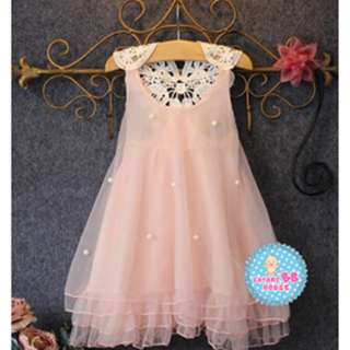 1801328  Princess Dress Flower Girls Clothing Summer Kid Baby Lace