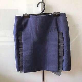 Elegant Toga archives navy blue pencil office skirt