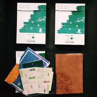 Last 2 left!! Starbucks Planner 2018 Large Orange Purple