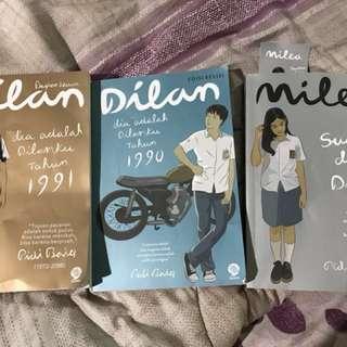 novel dilan 1990,1991,milea