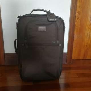 Tumi brown cabin luggage