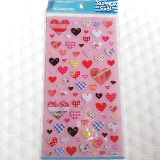 Clear stickers - heart patterns