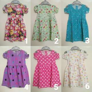 Off soulder dress 1-2 tahun