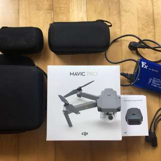 Mavic Pro, 2xbattery + charger + case