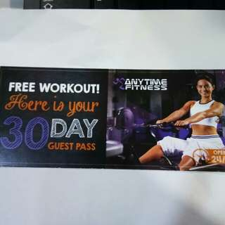 Anytime Fitness 30day guest pass