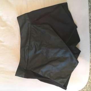 Leather skorts