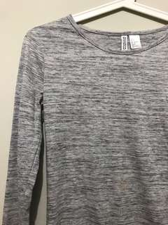 Long sleeves grey shirt H&M