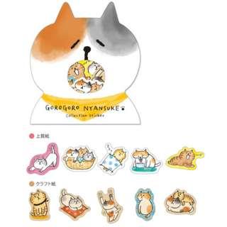 Only 1 Instock!(Mix & Match)*Mind Wave Japan - GoroGoro Nyansuke Collection Stickers (Yellow)