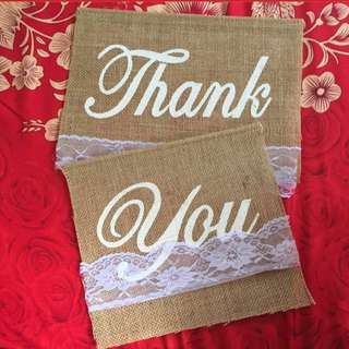 Thank you bunting flag for wedding solemnisation rom decoration