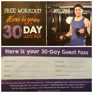 Anytime Fitness Voucher