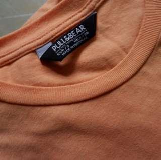 Tshirt pull and bear plain