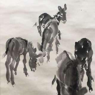 画家黄胄69x46cm Not For sale 非卖品 Chinese painting