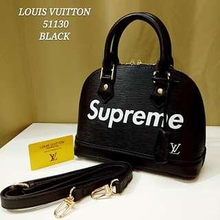 Louis Vuitton Alma Supreme Black
