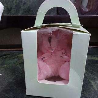 🚚 粉紅色小熊 情人節 週年 禮物 戒指小熊