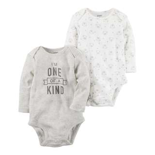 CABY109 Baby Boys Carter's 2-Pack Collectible Bodysuits - Beige