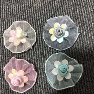 New arrivals sewn on flowers. Delivery by mail ea. $0.50
