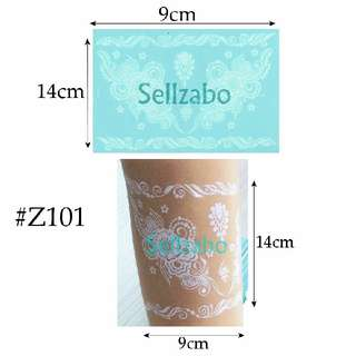 ★Design Lacey Fake Temporary Body Tattoos Stickers Sellzabo White Colour #Z101