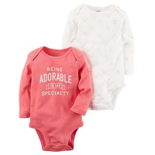 CAGL173 Baby Girls Carter's 2-Pack Collectible Bodysuits
