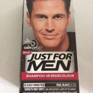 Just For Men Shampoo-in Hair Color (Real Black)