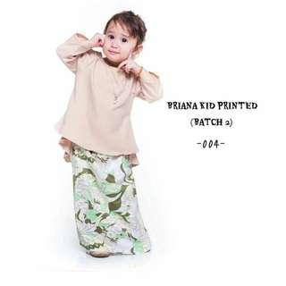 Briana Kids Printed Baju Kurung