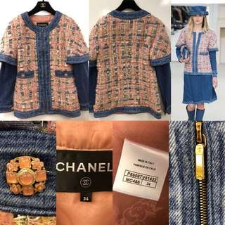 Chanel pink with denim jacket size 33
