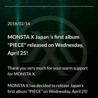 MONSTA X FIRST FULL JAPANESE ALBUM