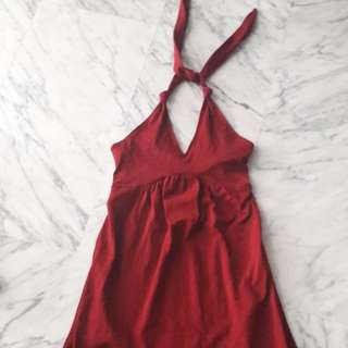 Preloved Halter Red Dress