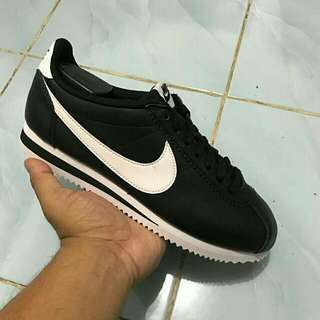 Reprice! Nike Cortez Black Leather Original