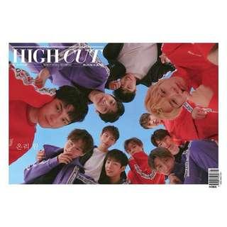 HIGH CUT 216 WANNA ONE 報紙雜誌