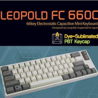 Leopold FC660C white PBT keycaps