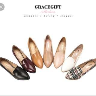 Grace gift-實搭俐落樂福跟鞋 格紋