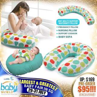 4 in 1 pregnancy support breastfeeding pillow baby sofa