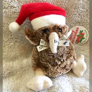 (New Zealand) Christmas Kiwi Bird Beanie Toy