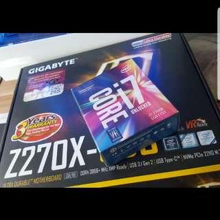 Intel 7700k + Gigabyte Z270 UD3 board