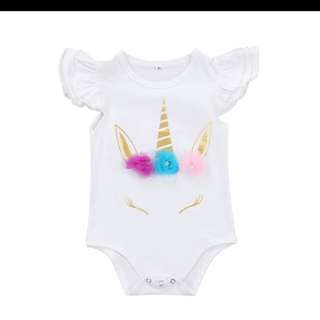 BN Unicorn Baby Romper with norm mail