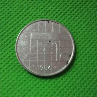 Koin Belanda 1cent 1986