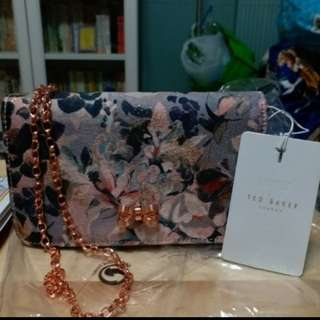 Ted Baker London,100% real and new, 細袋 玫瑰金chain bag