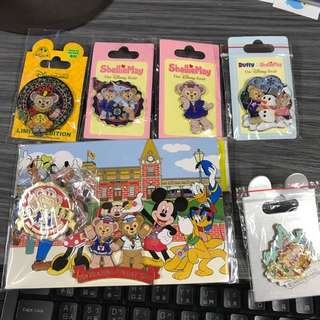 Hkdl duffy Sheillimay pin 7個 不散賣