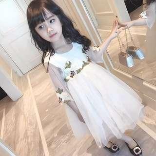 Korean Floral Lace Dress