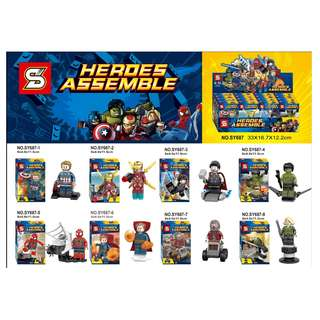 SY687 Heroes Assemble Infinity War 8in1 Minifigures Sets