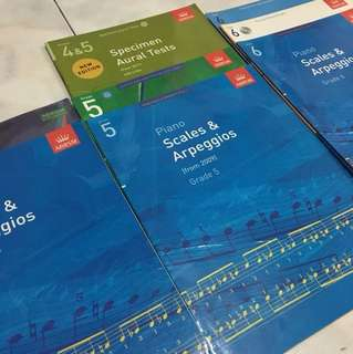 ABRSM Piano Exam Books Grade 3, 5, 6 Scales, Pieces, Aural