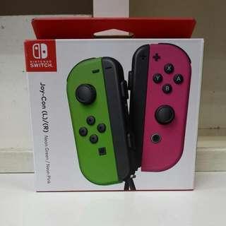 Switch Joy-con Neon Green/Neon Pink