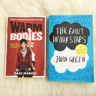 Warm Bodies By Isaac Marion & The Fault In Our Stars By John Green
