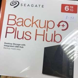 🚚 Seagate Backup Plus Hub 6TB USB3.0 3.5吋外接硬碟(STEL6000300)