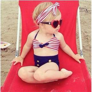 Kids swimwear two piece high quality