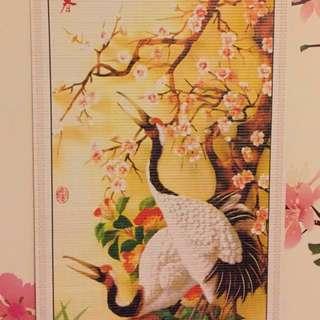中式古典仿籐掛軸吉祥瑞鶴開運好運掛軸✨新年好運到✨