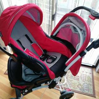 Php 4,500 baby 1st stroller with car seat(negotiable)