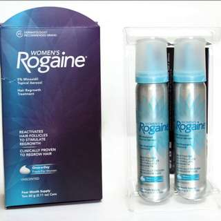 Rogaine women foam 5% 4 Month supply , 2 bottles