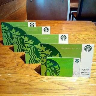 Starbucks Card Kartu KSA/Jeddah/Riyadh Saudi Arabia