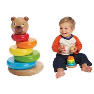 嬰幼兒五感啟發玩具 五彩小熊磁疊不倒翁(9M+)